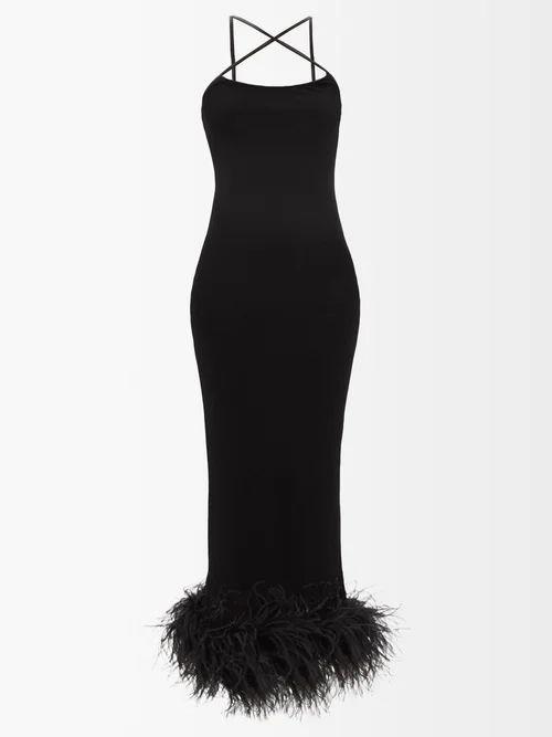 Maison Rabih Kayrouz - Gaze Tiered Crepe Gown - Womens - Blue