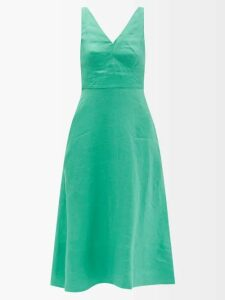 Joseph - Moore Double Breasted Cotton Blend Check Blazer - Womens - Beige Multi