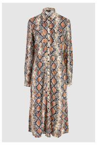 Womens Next Snake Print Shirt Dress -  Brown