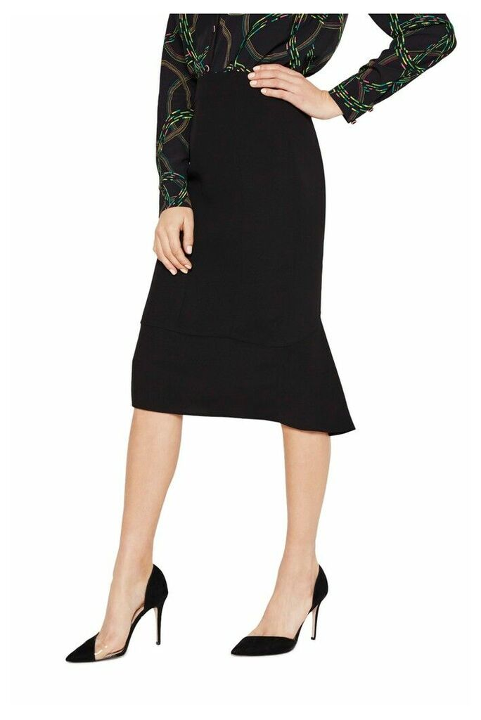 Womens Damsel In A Dress Isabella Cut-Out City Suit Skirt -  Black
