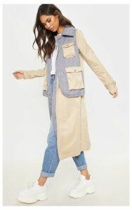 Cream Utility Trench Coat, White