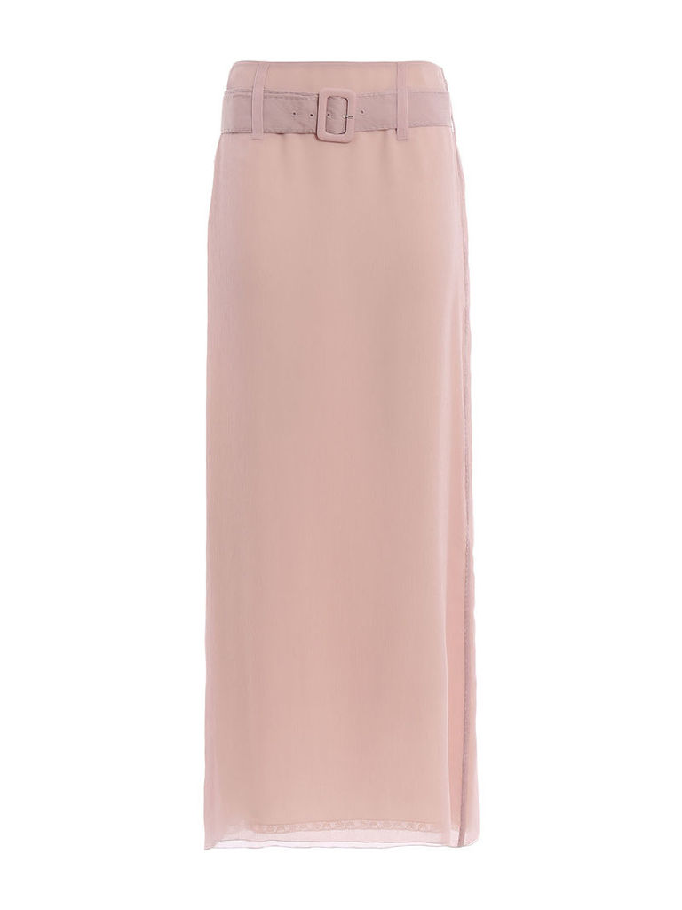 Prada Chiffon Long Skirt