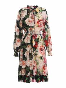 Dolce & Gabbana Double Floral Pattern Dress