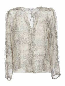 Red Valentino Star Detail Blouse