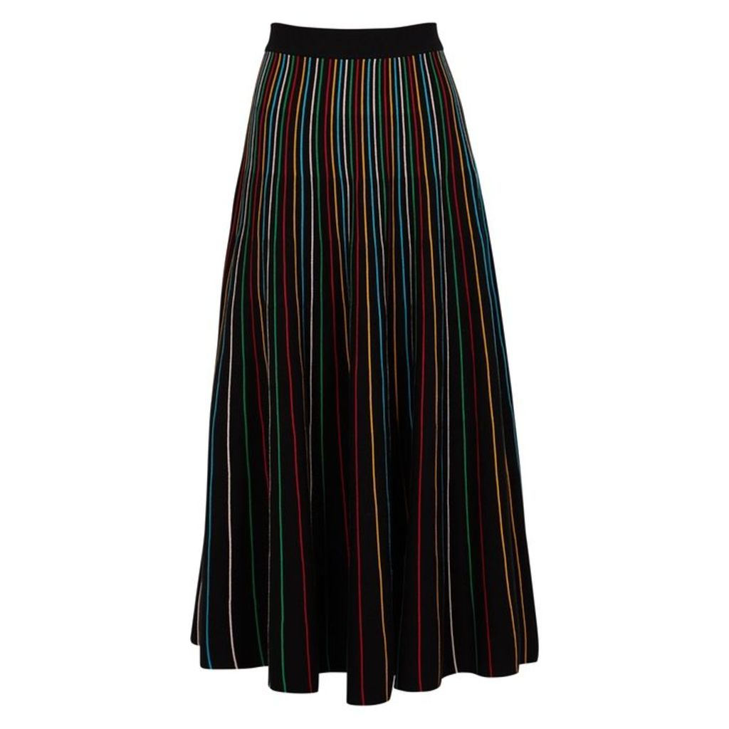 RED Valentino Striped Cotton-blend Skirt