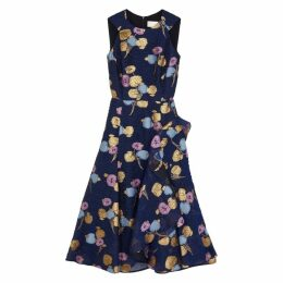 Peter Pilotto Blue Jacquard Organza Dress