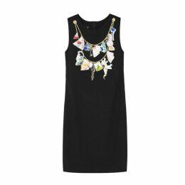 Boutique Moschino Black Printed Dress