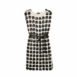 Emporio Armani Sequin And Satin Dress