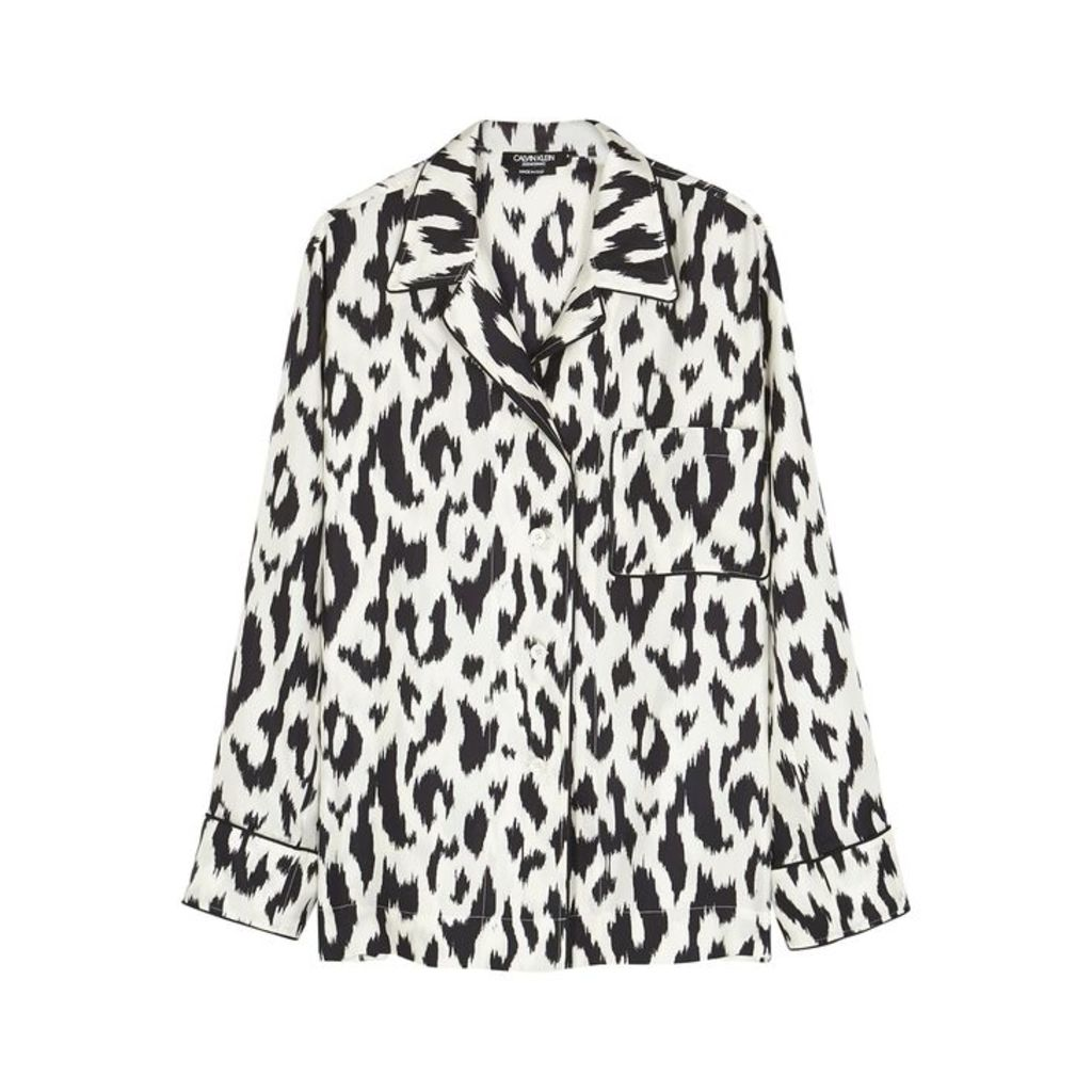 Calvin Klein 205W39NYC Leopard-print Silk Twill Shirt