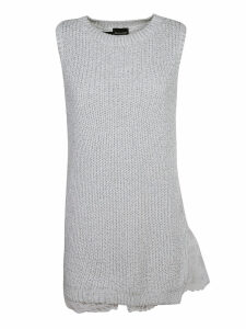 Ermanno Scervino Ribbed Laced Dress