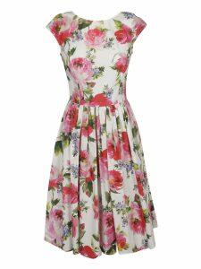 Dolce & Gabbana Floral Print Pleated Skirt Dress