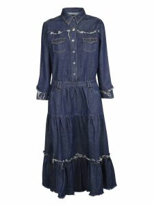 Alanui Frayed Denim Maxi Dress