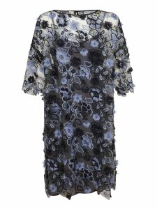 Antonio Marras Embroidered Floral Dress