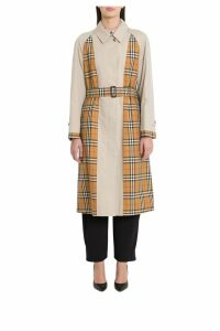 Burberry Guiseley Trench Coat With Contrasting Panels