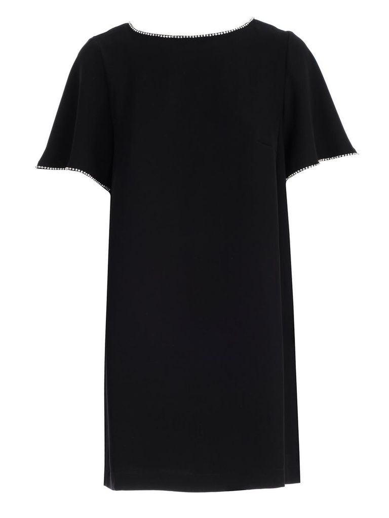 Mcq Alexander Mcqueen Embellished Trim Dress