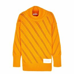 Calvin Klein Orange Roll-neck Knitted Jumper