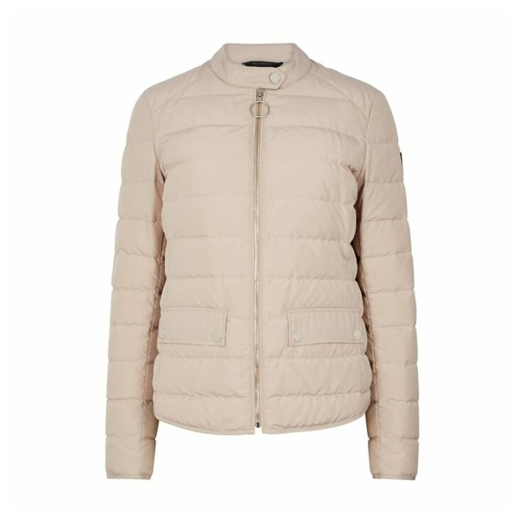 Belstaff Ranford Blush Quilted Shell Jacket