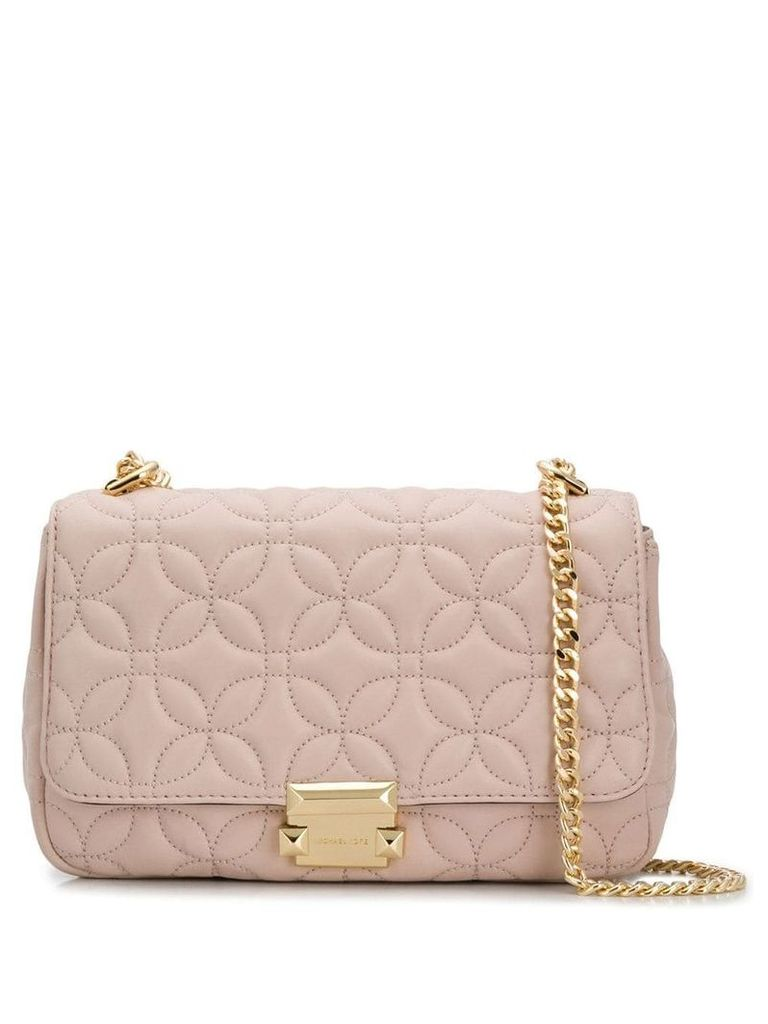 Michael Michael Kors Sloan Floral Quilted shoulder bag - Pink