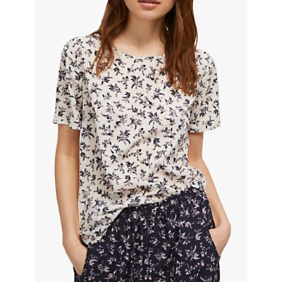 French Connection Felicienne T-Shirt, Class Cream/Multi