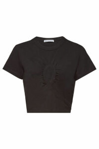 alexanderwang.t Draped Cotton Top with Cut-Out Detail