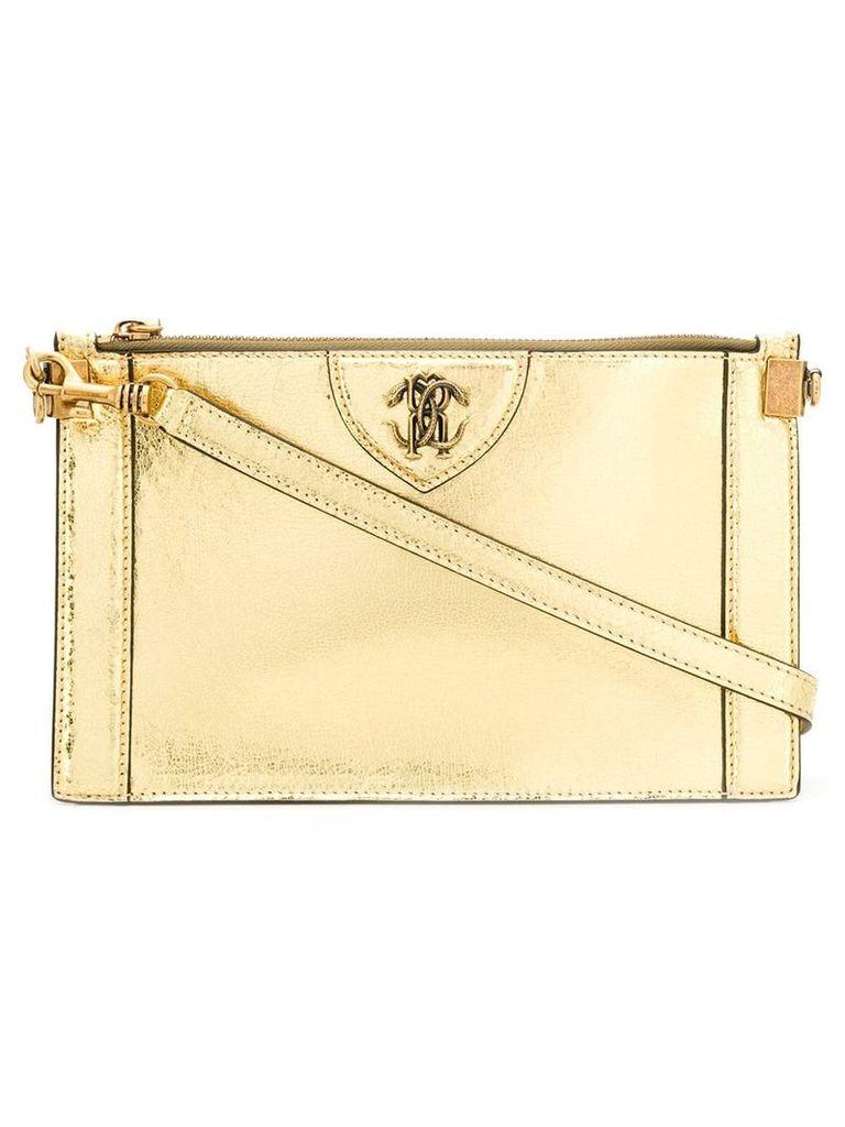 Roberto Cavalli Mirror Snake crossbody bag - Gold