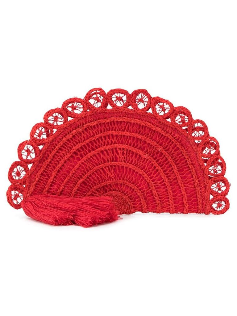 Nannacay braided loop clutch - Red