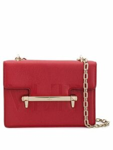 Valentino Valentino Garavani embossed shoulder bag - Red