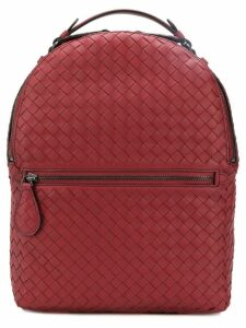 Bottega Veneta intrecciato backpack - Red