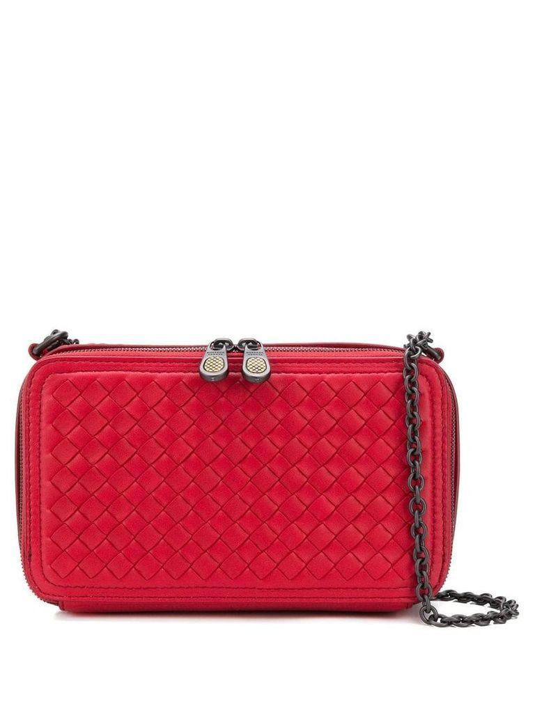 Bottega Veneta woven shoulder bag - Red