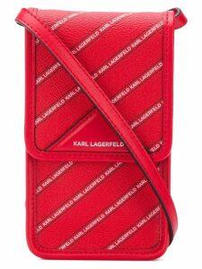 Karl Lagerfeld K/Stripe Logo Super Mini bag - Red
