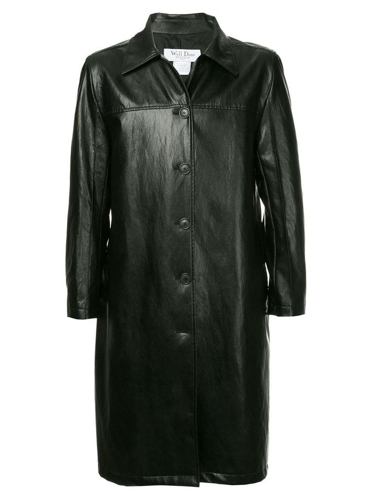 We11done belted coat - Black