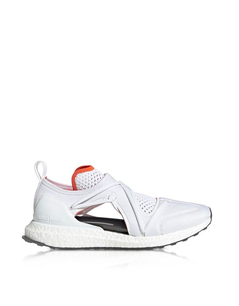 Adidas Stella McCartney Designer Shoes, Ultraboost T White Nylon Running Sneakers