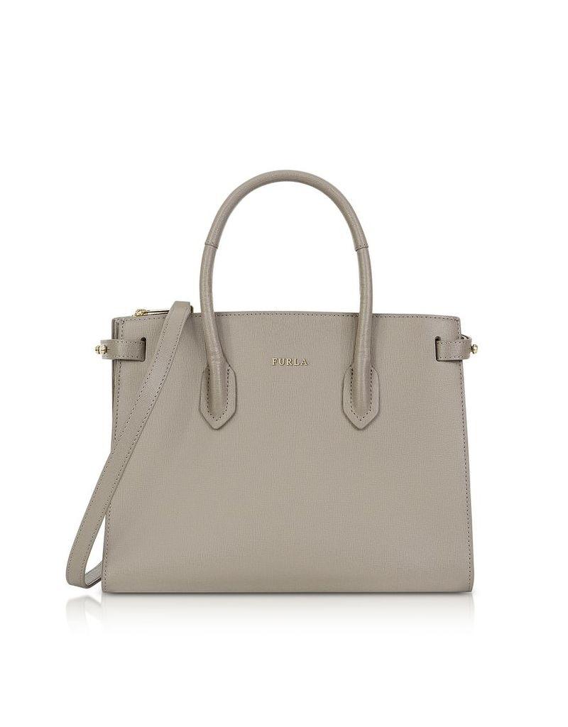 Furla Designer Handbags, Saffiano Leather Pin Small E/W Tote Bag