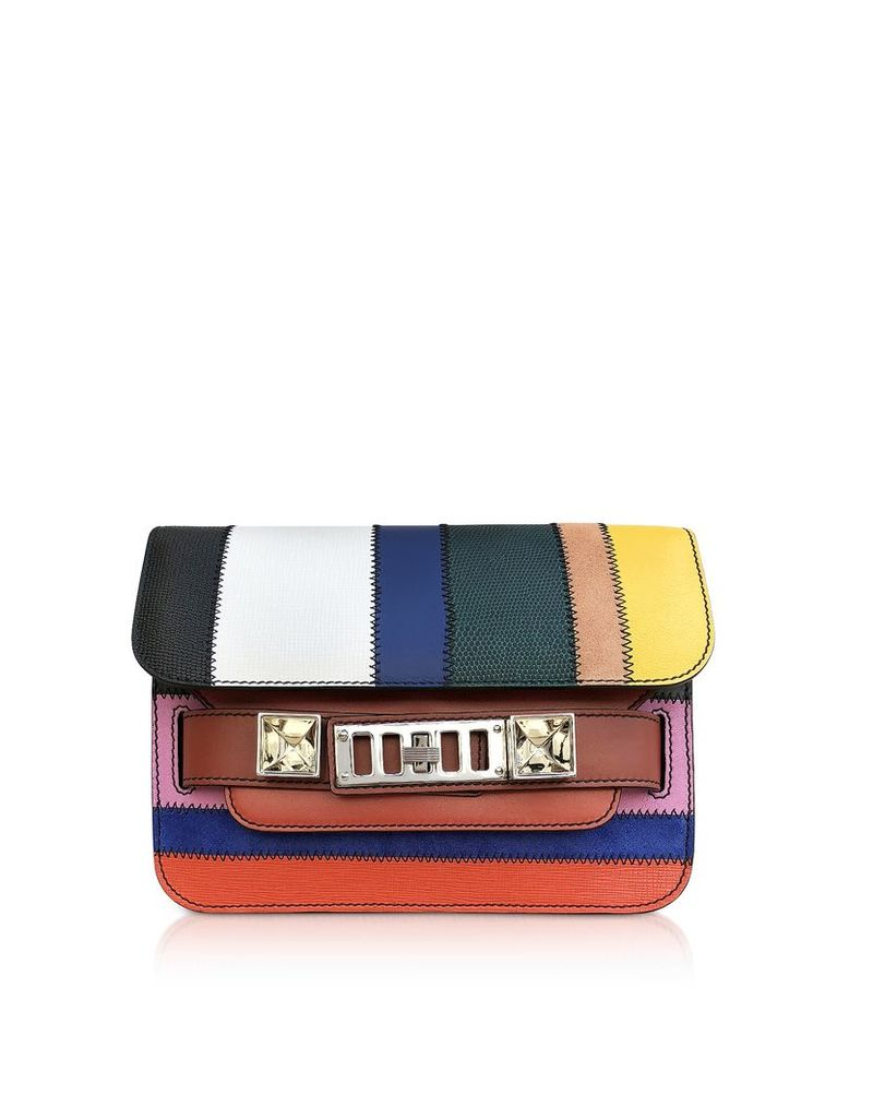 Proenza Schouler Designer Handbags, Ps11 Mini Classic-ColorfuL Patchwork Shoulder Bag