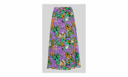 Simone Floral Print Silk Skirt