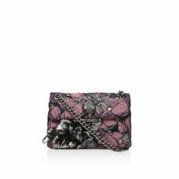 Kurt Geiger London Fabric Mini Kensington X - Pink Embellished Cross Body Bag