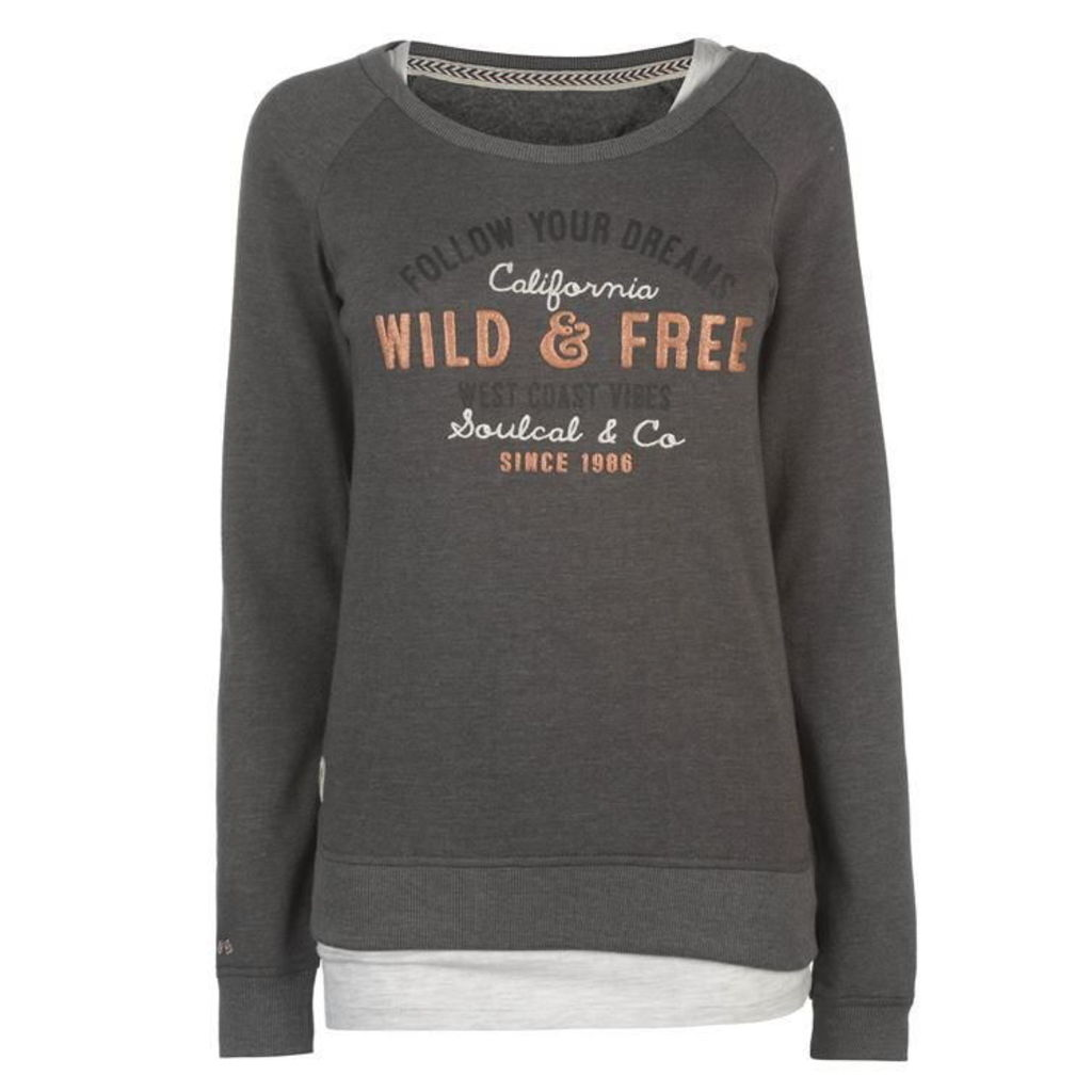 SoulCal Double Layer Sweatshirt Ladies
