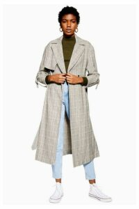 Womens Textured Check Trench Coat - Multi, Multi