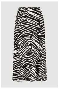 Womens Whistles Zebra Print Skirt -  Black