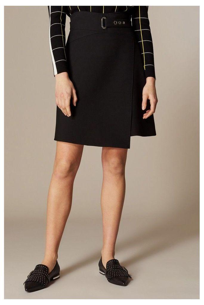 Womens Karen Millen Black Interlaced Corset Skirt -  Black