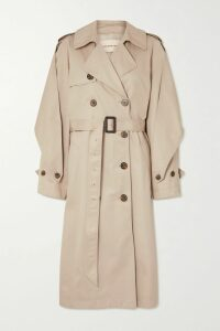 Alexander Wang - Distressed Denim Trench Coat - Light denim