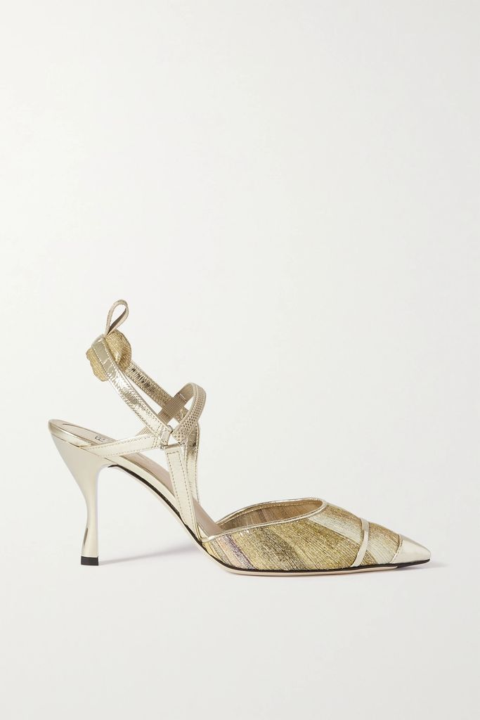 Burberry - The Kensington Leather-trimmed Shell Trench Coat - Black