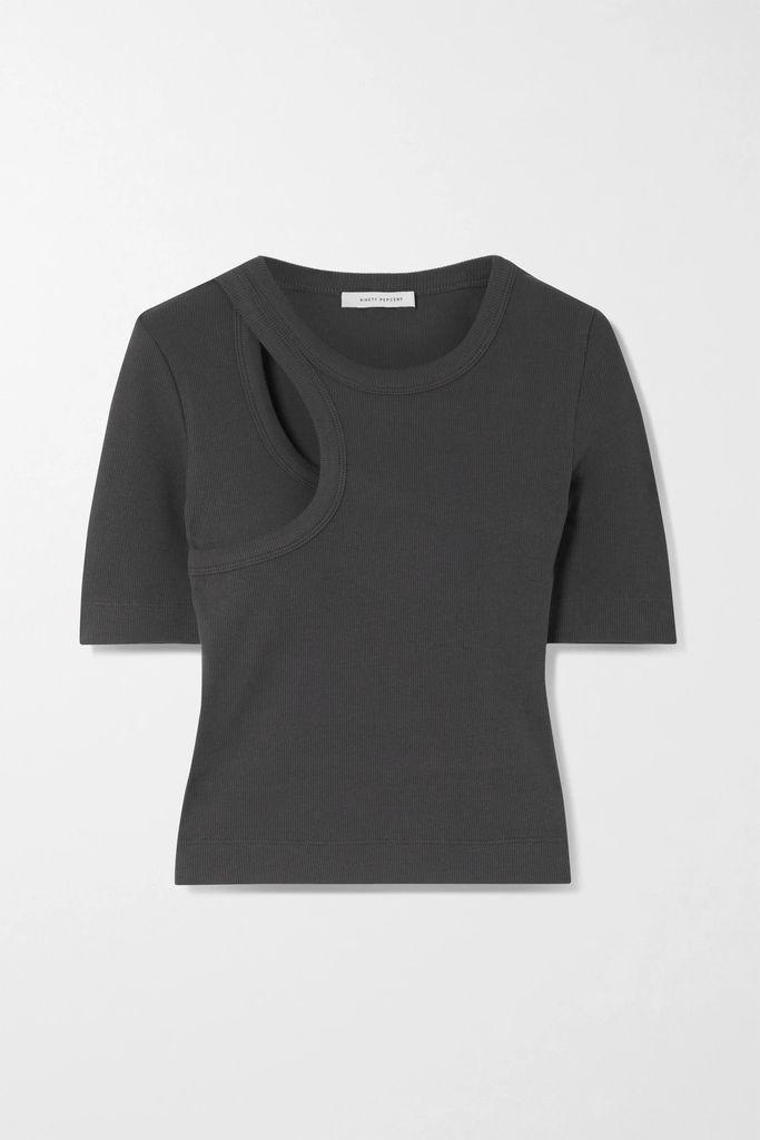 L.F.Markey - Jerry Ribbed Stretch Cotton-jersey Bodysuit - Saffron