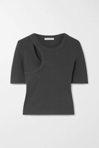 L.F.Markey - Jerry Ribbed Stretch Cotton-jersey Bodysuit - Saffron