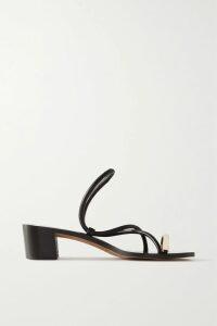 Peter Do - Asymmetric Draped Satin-trimmed Crepe Maxi Dress - Black