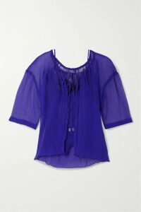 Silvia Tcherassi - Faraolillo Belted Silk-satin Midi Dress - Black
