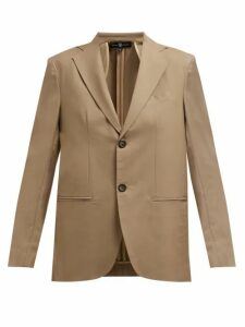 Edward Crutchley - Single Breasted Wool Blazer - Womens - Beige