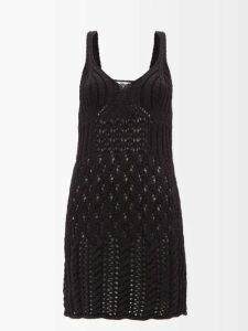 Vivienne Westwood - Tartan Handkerchief Hem Linen Midi Skirt - Womens - Black Multi
