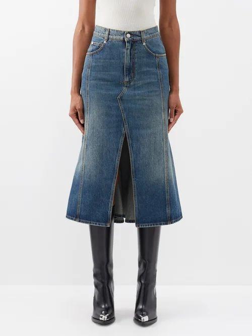 Raey - Long Line Heavy Cotton Jersey T Shirt - Womens - Black