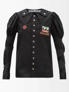 Raey - Elasticated Waist Seersucker Skirt - Womens - Navy